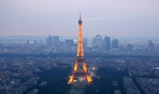 The Eiffel tower is one of the most famous landmarks in the world.