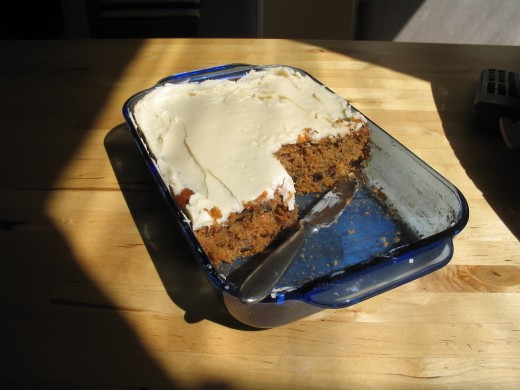 Healthy Carrot Cake With Low Fat Cream Cheese Frosting
