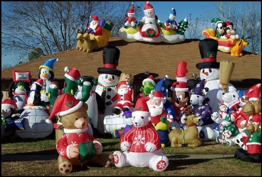 Christmas animated inflatable yard decorations memes
