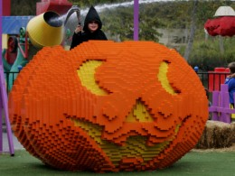 Giant Lego Pumpkin at Legoland in Carlsbad.