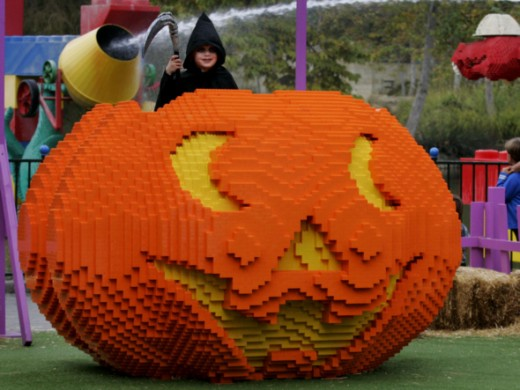 Giant Lego Pumpkin at Legoland in Carlsbad.