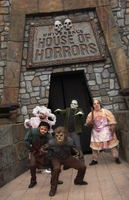 Visit the House of Horrors at Universal Studios, Hollywood.