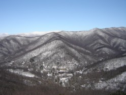 A Winter view of Montreat from Lookout Mountian