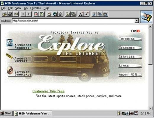 MSN in 1995.