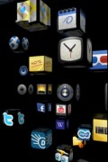 Homescreen 3D, very very 3D with individual apps as rotating cubes in a 3D world... but not that usable.