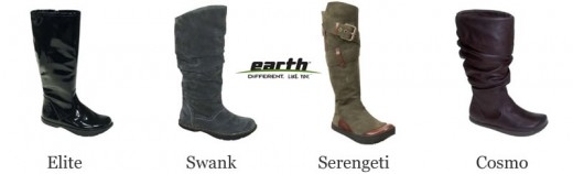 Fashionable womens Earth boots for winter