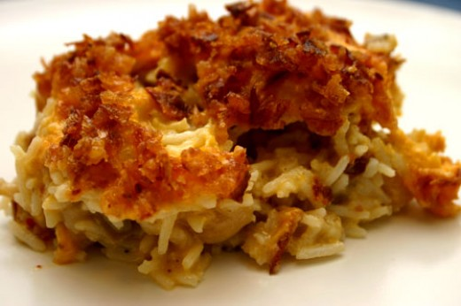a serving of roasted cauliflower casserole
