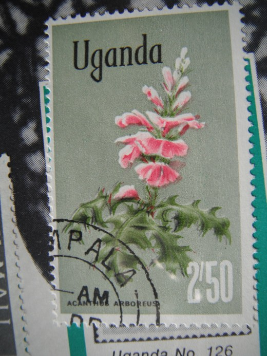 An African stamp of Uganda
