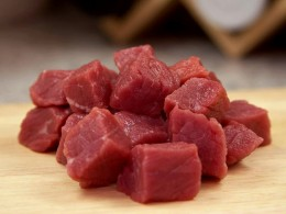Fresh meat is good and healthy for dogs, whether cooked or raw.