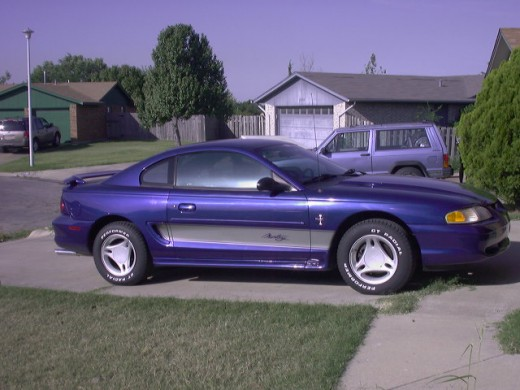 '97 Mustang with 351 Windsor engine.