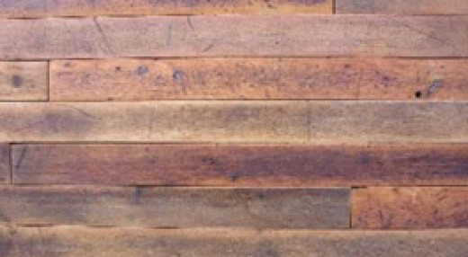 Red reclaimed maple flooring
