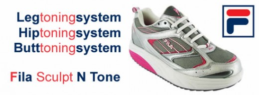 Sculpt a better body with Fila Sculpt n Tone Shoes