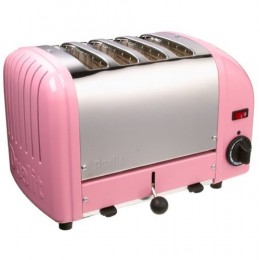A classic: Dualit's 4 slice toaster. Here shown in pink!