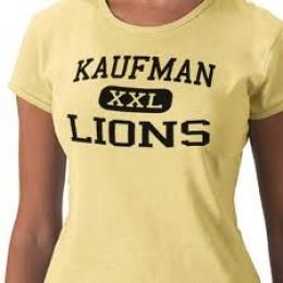 That IS a t-shirt for Kaufman High School, Kaufman, Texas.