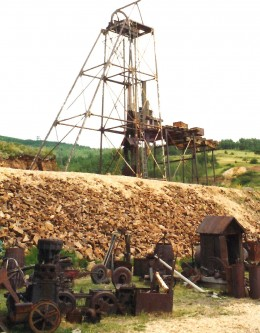 Some old mining equipment in Cripple Creek