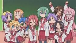 Lucky Star Four Friends Characters Manga Anime Video and Merchandise Hiragi Izumi TakaraKonata Pose