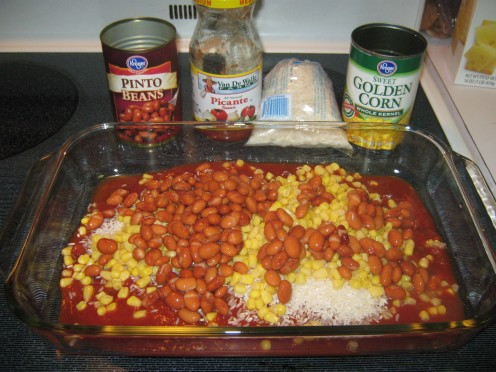 Add 1 can of pinto beans, drained and rinsed.
