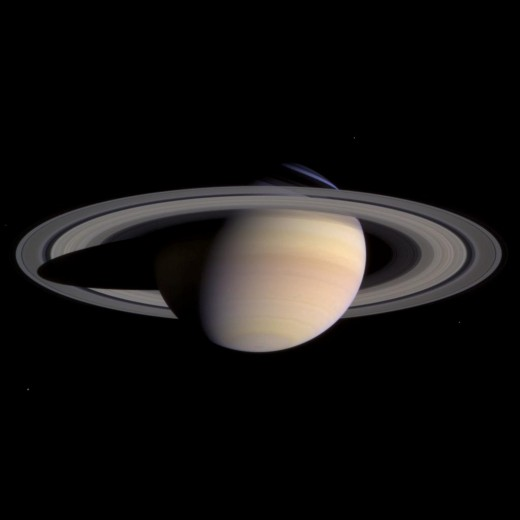 Saturn as seen from the satellite Cassini