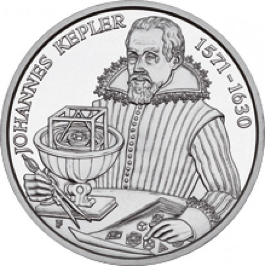TEN EURO SILVER COIN OF JOHANNES KEPLER