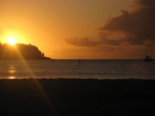 Sunset on Hanalei Bay