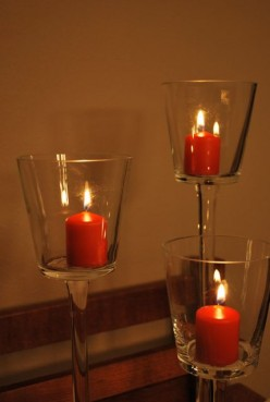 Burn candles in appropriate containers and on proper surfaces
