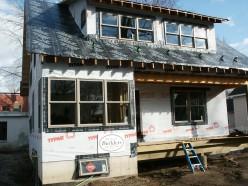 Roof waterproof underlayment in place.