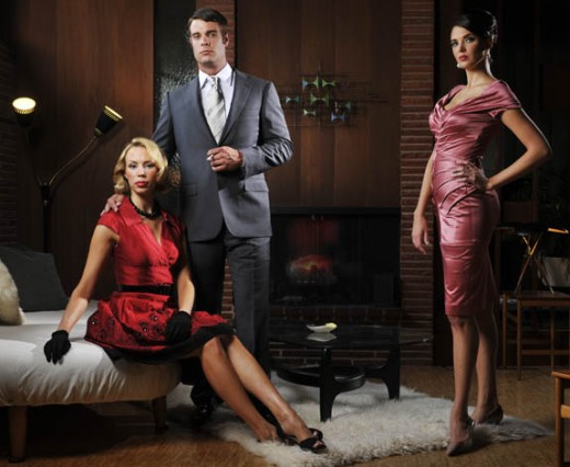 Sleek and sexy is a hallmark of Mad Men office style