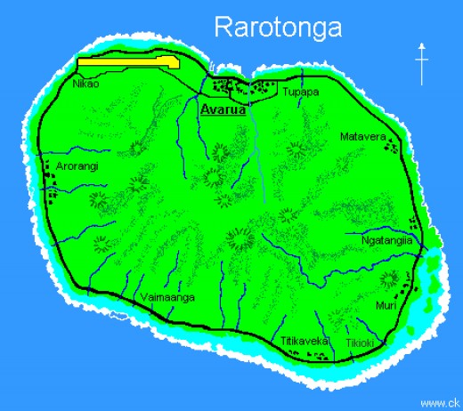 Main Cook Island, Rarotonga is the youngest island in the Cook Islands southern group it has 2,140 ft high jagged  volcanic mountains with three layers of thick jungle.