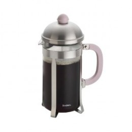 BonJour 8 Cup Monet French Press,  with light pink knob and handle.