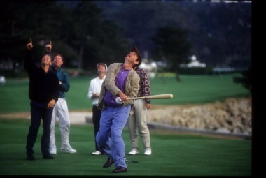 Bill Murray, the star of Caddyshack, seems to always be having fun on a golf course.