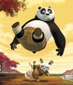 Tiny Master Shifu shows Po how its done