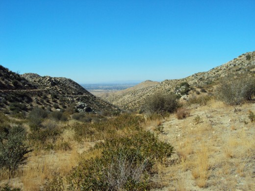 Another picture looking out towards Hesperia, on the back side of the San Bernardino Mountains, which consist of high desert like terrain.