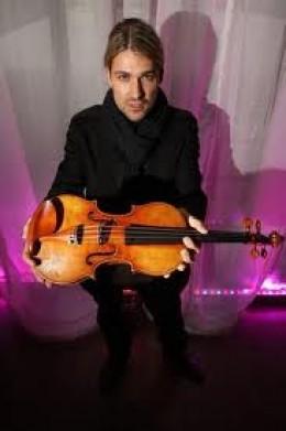 Violinist David Garett with a Stradivarius violin