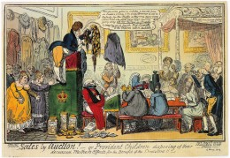 Sales by Auction! by George Cruikshank