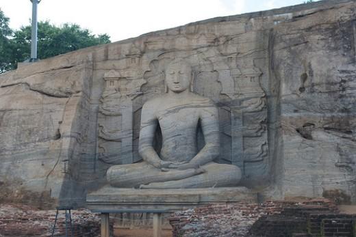 Statue of Lord Buddha in Gal Viharaya, Polonnaruwa