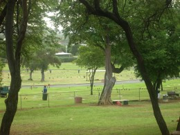 Cemetery at the base of Diamond Head