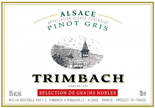 AC Alsace, Slection de Grains Nobles From late harvest, affected by noble rot means wine is sweet.