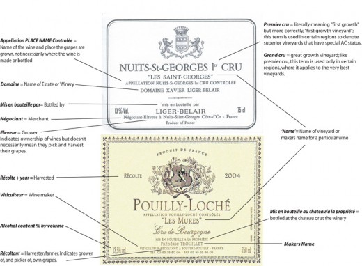 Understanding French wine labels (Click image for better viewing)