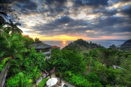 Beautiful sunset in Costa Rica.