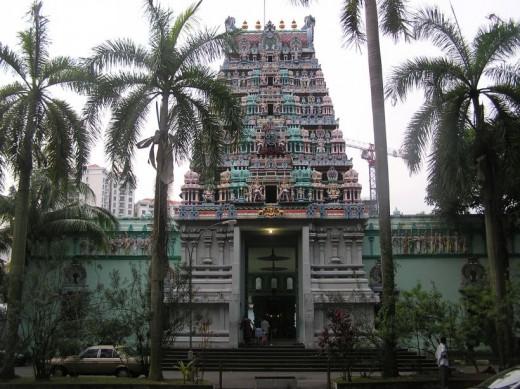 Singapur Templo Sri Thendayuthapani