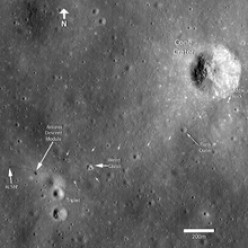Lunar Reconnaissance Orbiter photo of Apollo 14 landing site