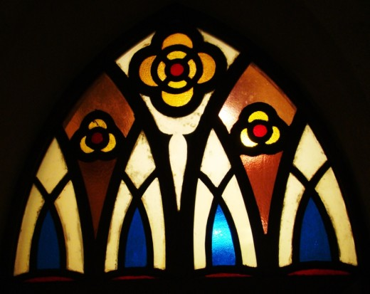 Stained glass windows of Santhome basilica