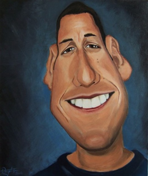 Cartoon of Adam Sandler