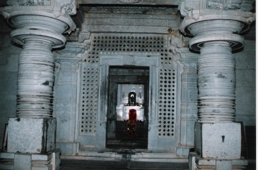 Navarang , pillers, and sanctum sanctorum of heggere jain temple