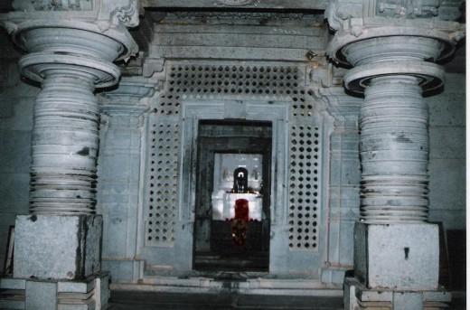 Navarang , pillers, and sanctum sanctorum of heggere jain temple