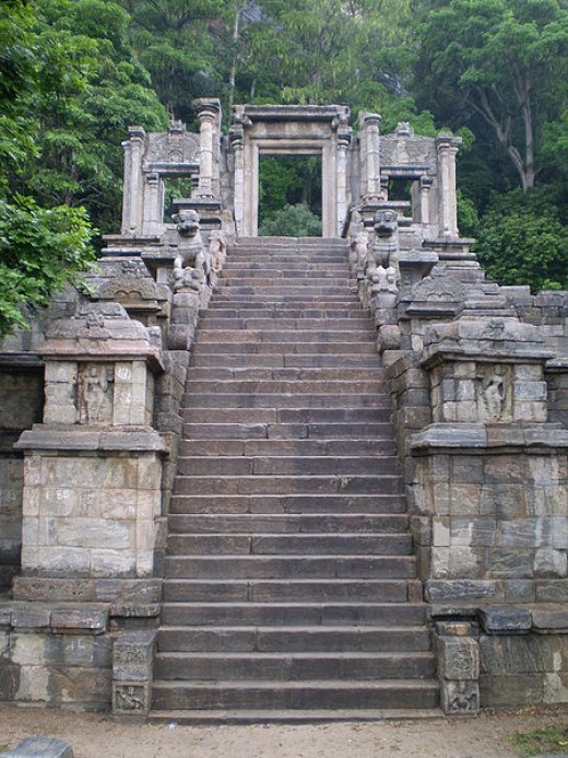 Yapahuwa stone stairway, some of the best stone carving in Sri Lanka