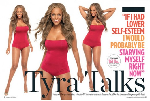 """Images of Tyra Banks fighting back after being called """"America's Next Top Waddle"""" (Image courtesy of Hilary.com)"""