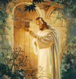 He is knocking at the door of our heart, He loves us with an infinite love we cannot understand , and wants to have a relationship with us.....Answer the door!