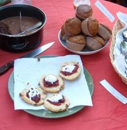 Jam scones and cakes