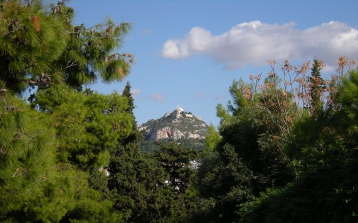 Lycabettus Hill from the slopes of the Acropolis